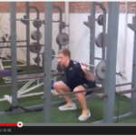 Oxidative squats for aerobic conditioning